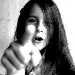 pointing girl by Marinka van Holten